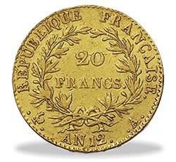 moneta 20 franchi marengo d'oro