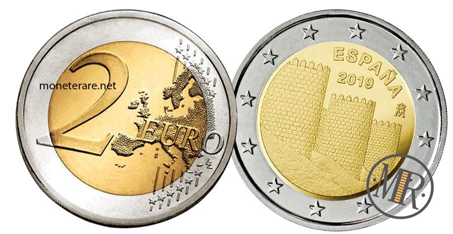 2 Euro Commemorativi Spagna 2019 Ávila