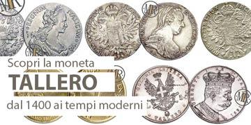il tallero d'argento monete rare valore