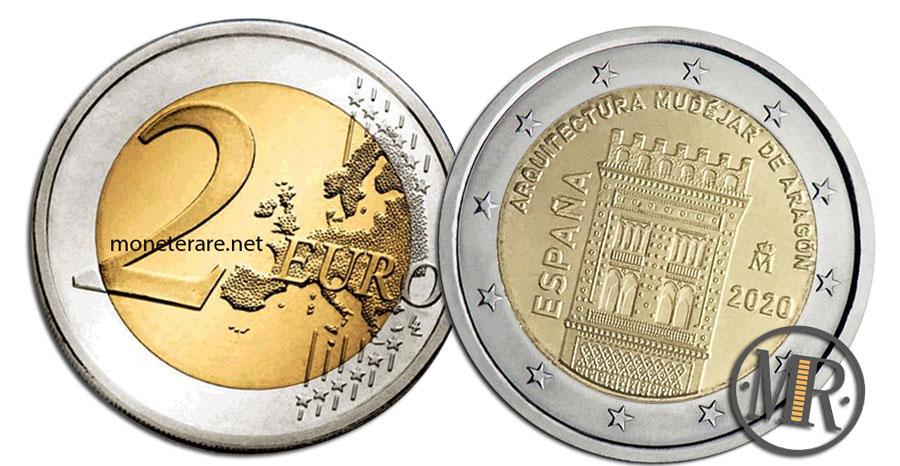 2 Euro Commemorativi Spagna 2020 Architettura mudéjar d'Aragona
