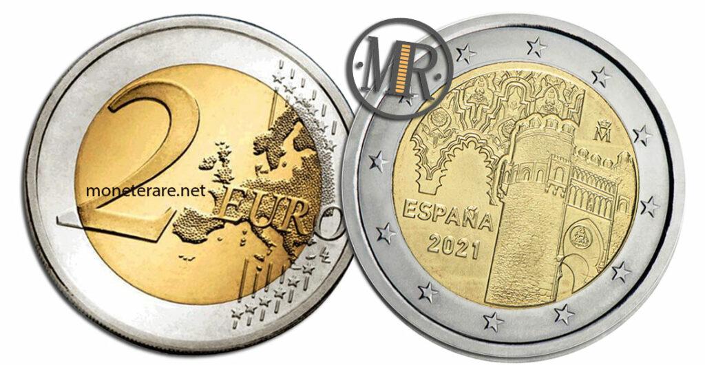 2 Euro Commemorativi Spagna 2021 Toledo